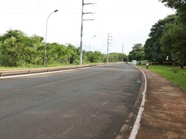 Curva onde ocorreu o acidente com morte (Foto: Fernando Antunes)