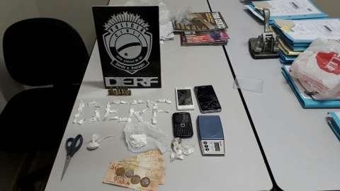 Suspeito de integrar o PCC é preso com cocaína e munições na Capital