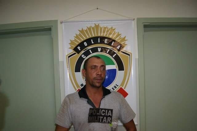 Cláudio foi preso e confessou o crime (Foto: Maycon Chavez/Caarapó News)