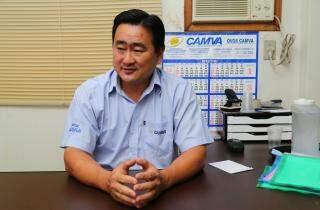 Francisco Suzuki, diretor administrativo da cooperativa (Foto: Marcos Ermínio)