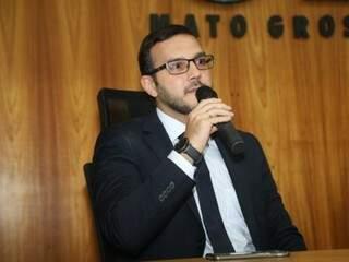 Bruno César Teixeira assumiu a 3ª Vara Federal de Campo Grande em março de 2018 (Foto: Gerson Walber)