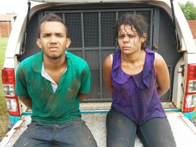 Casal que participou de roubo a família, preso enquanto tentava levar veículo das vítimas ao Paraguai (Foto: divulgação)