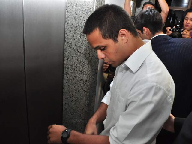 Cristhiano Luna, após a audiência, acompanhou depoimento de 13 testemunhas. (Foto: João Garrigó)