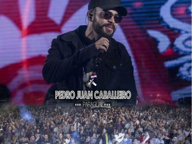No Instagram, a produção do cantor publicou imagens do show no Paraguai. (Foto: Instagram/Reprodução)
