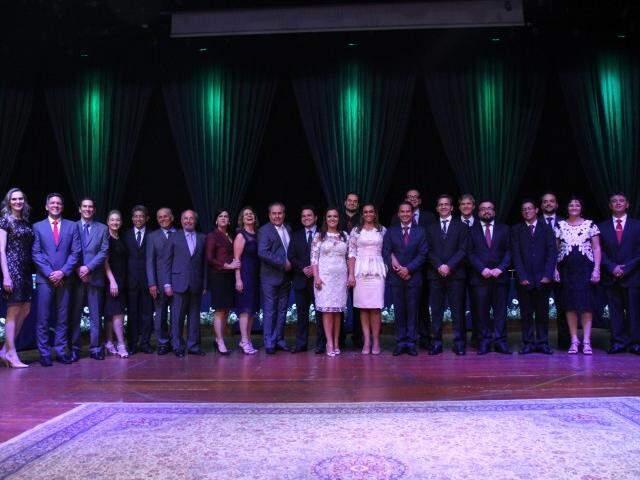 Secretariado, diretores e presidentes do novo prefeito, Marquinhos Trad (PSD). (Foto: Alcides Neto)