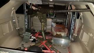 Metralhadora usada para matar Jorge Rafaat, no dia 15 de junho (Foto: Arquivo)