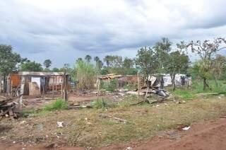 Crime foi na favela Cidade de Deus, em Campo Grande.  (Foto: Marcelo Calazans)