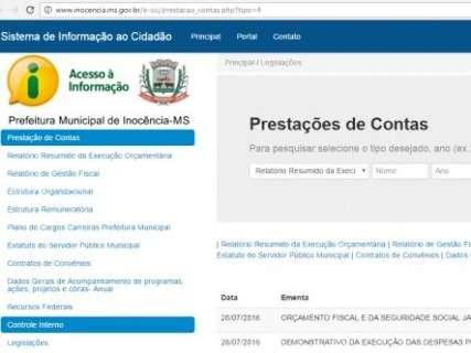 Menores municípios de MS são mais transparentes, mostra pesquisa