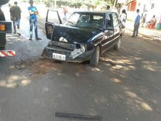 Uno teve a frente totalmente destruída (foto: Rafael Aires)