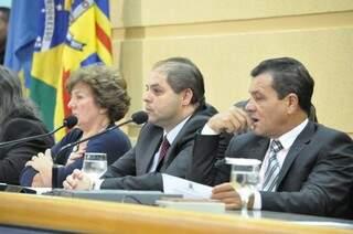 Mesa diretora da Câmara presidirá a Audiência Pública (Foto - Marcelo Calazans)