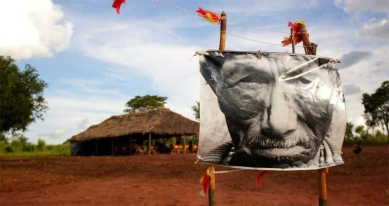 O kaiowá Marcos Veron foi assassinado em janeiro de 2003, com 72 anos de idade (Foto: Survival)