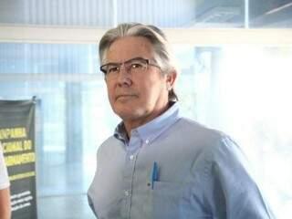 Empresário João Roberto Baird na sede da PF, quando prestou depoimento em uma das fases da Lama Asfáltica (Foto: Marcos Ermínio/Arquivo)