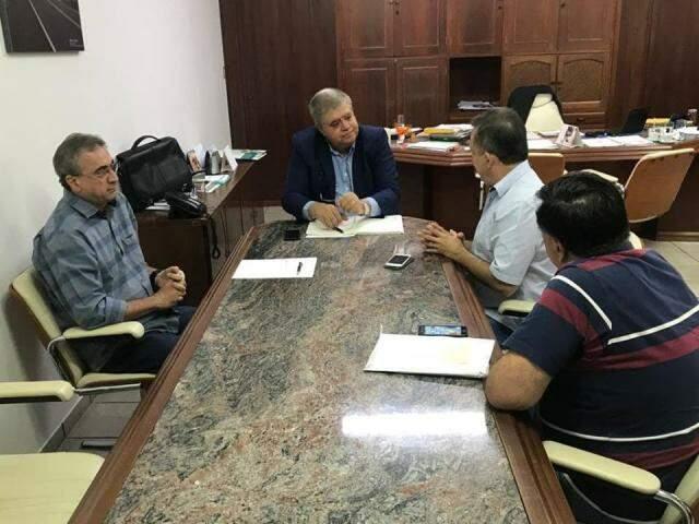 Ministro Carlos Marun em reunião na sede do Dnit, na Capital (Foto: Liniker Ribeiro)