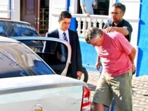 Carvalho, quando foi preso em 2009, em Corumbá, pela Polícia Federal. (Foto: Diário Online)