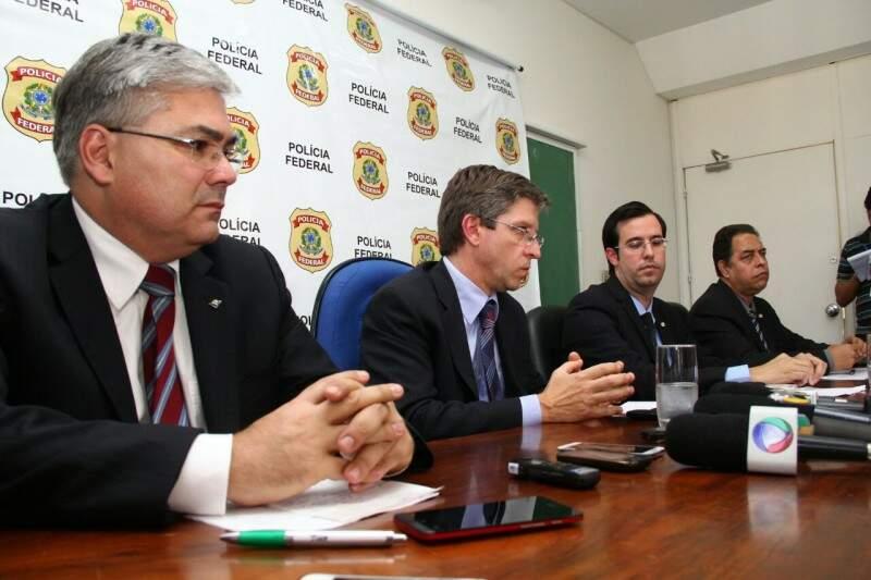 Representantes de órgão federais se uniram para investigar irregularidades em três obras de MS (Foto: Marcos Ermínio)
