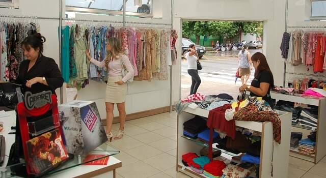 Loja Farfalla do Centro, na esquina da 13 com a Barão do Rio Branco.