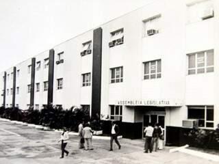 Primeira sede da Assembleia foi na rua Barão do Rio Branco (Foto: Reprodução/ ALMS)
