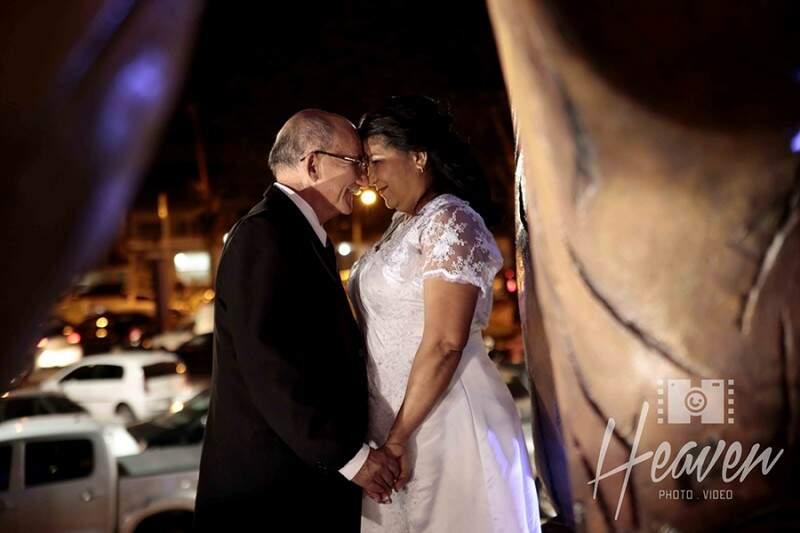 Simão e Rosa seguiram para um ensaio na Orla. (Foto: Heaven Photo e Video)