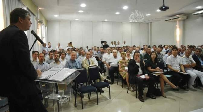 Secretário de Estado de Meio Ambiente e Desenvolvimento Econômico, Jaime Verruck, foi ao evento representando o governador Reinaldo Azambuja (PSDB) (Foto: Divulgação/Governo de MS)