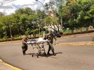 Em Campo Grande fiscal passou mal e Corpo de Bombeiros foi acionado. (Foto: Adriano Fernandes)