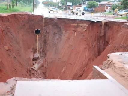 Liberada transferência de R$ 5,9 milhões para reparo de cratera no Nova Lima