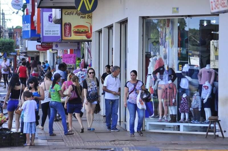 Em Dourados, comércio de tecidos e artigos de cama, se destacou na geração de empregos no ano passado. (Foto: Arquivo/ Campo Grande News)