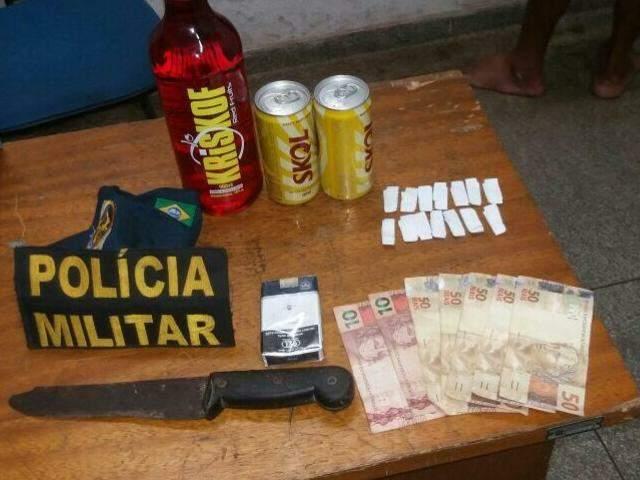 O rapaz foi detido pelo bairro CEAC no município. (Foto: Folha MS)