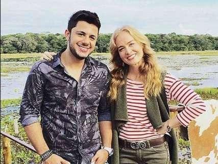 Angélica divulga gravação inédita com Cristiano Araújo no Pantanal de MS