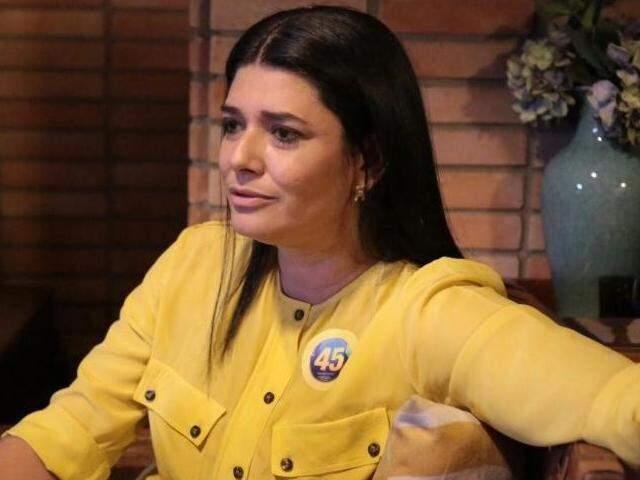 Rose Modesto ainda durante a campanha eleitoral. (Foto: Fernando Antunes)