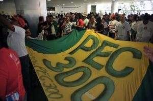 Policiais de MS participam de ocupação do Congresso por PEC 300