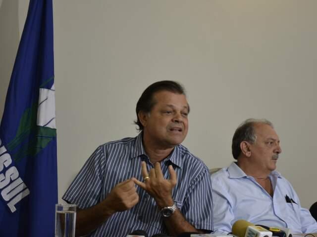 Presidente da Acrissul anuncia que feira deste ano não vai ter shows, tradição cultural em Campo Grande. (Foto: Fabiano Arruda)