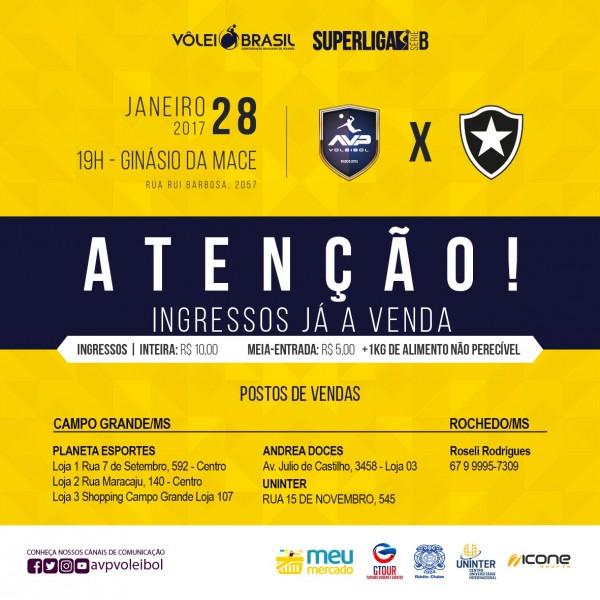Rádio Clube/AVP encara o Botafogo na Mace e conta com o apoio da torcida