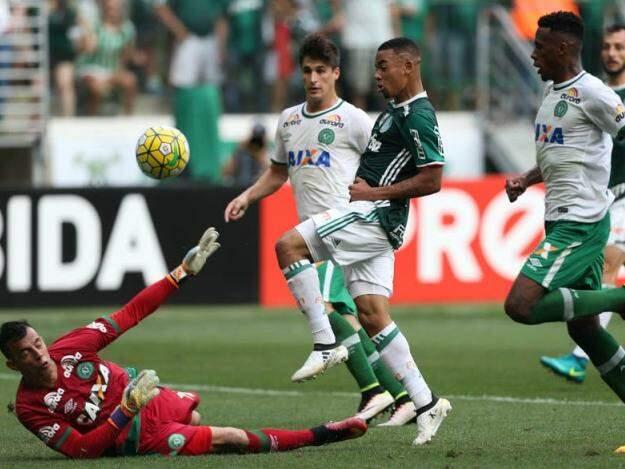 Último jogo da Chapecoense antes do trágico acidente foi contra o Palmeiras no Allianz Parque; Verdão se sagrou campeão do Brasileirão na oportunidade (Foto: Cesar Greco/Ag Palmeiras/Divulgação)
