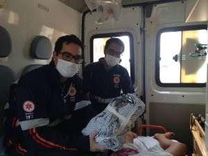 Menina nasce em ambulância  e emociona equipe do Samu em Dourados