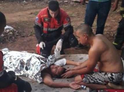Mãe e bebê que sofreram queimaduras se recuperam na Santa Casa