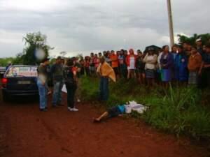 Josivaldo foi morto com vários golpes de faca na cabeça, no pescoço, no queixo e no peito. Além de ter levado uma paulada na cabeça. (Foto: Dourados News)