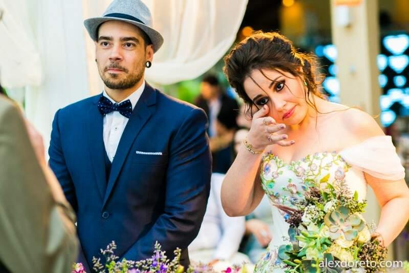 As lágrimas escorreram também no segundo casamento. (Foto: Alex Doreto)