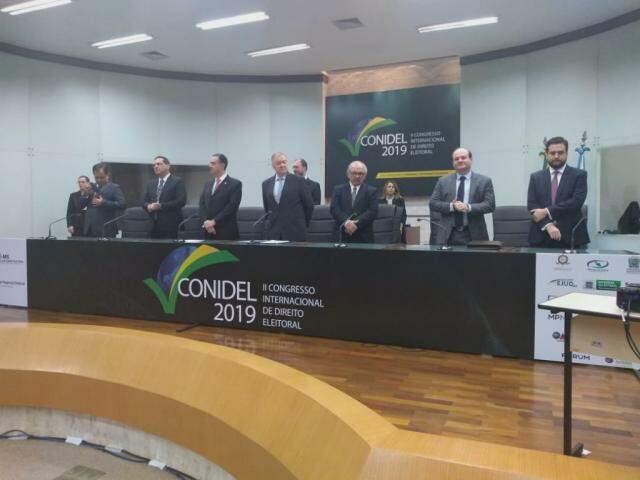 Congresso está ocorrendo na sede do TRE-MS, em Campo Grande (Foto: Leonardo Rocha)