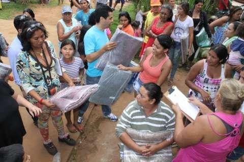 Águas Guariroba arrecada 7 toneladas de agasalhos e cobertores em campanha