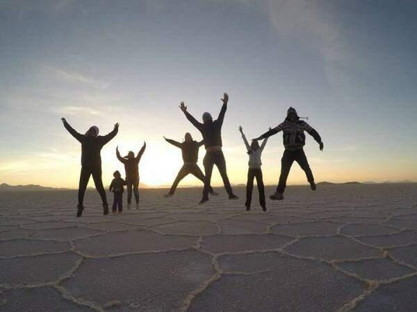 Ao lado dos amigos a viagem ficou ainda mais divertida e incrível.