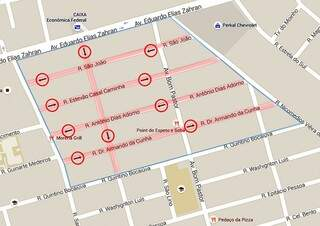 Ruas mudarão de sentido para dar fluidez no trânsito. (Foto: Divulgação)