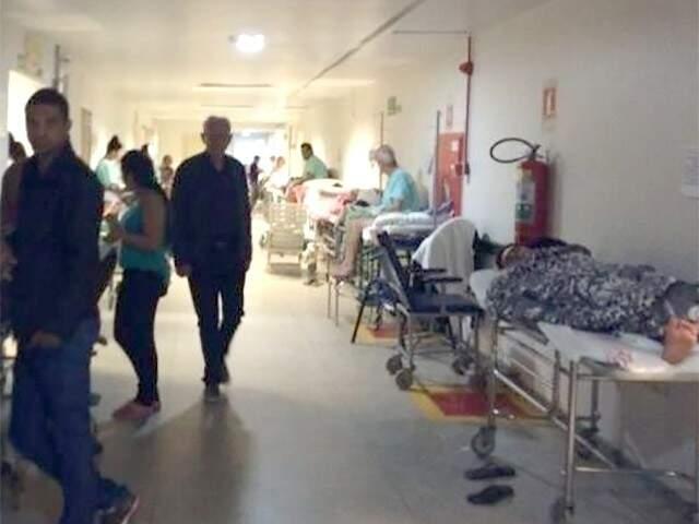 Desde o início do inverno, a Santa Casa opera no limite; pacientes com gripe e em estado grave são levados para lá (Foto: Arquivo)
