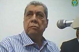 Ex-governador André Puccinelli, durante audiência de custódia (Foto: Divulgação/Polícia Federal)