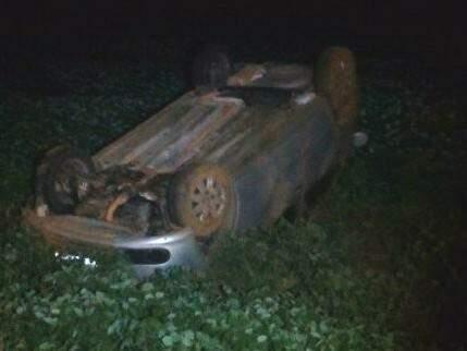 Veículo caiu em plantação de soja (Foto: Perfil News)