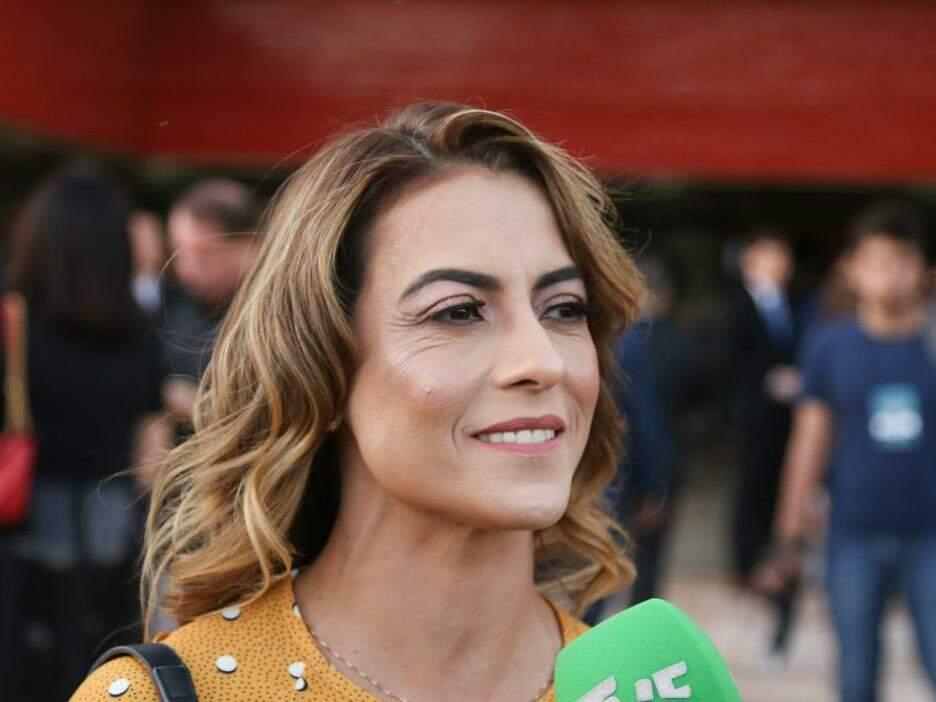Soraya Tronicke durante a diplomação. Ele foi eleita senadora de Mato Grosso do Sul na eleição de 2018. (Foto: Paulo Francis/Arquivo).
