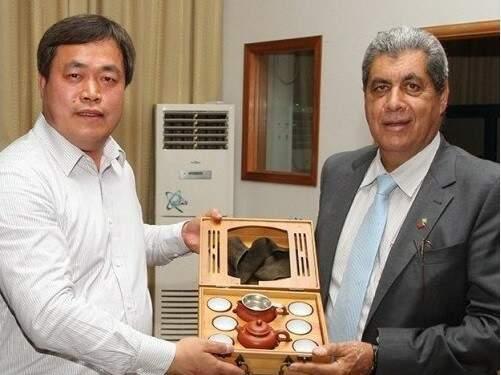 Governador durante evento na China (Foto: Divulgação)