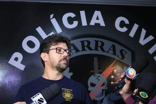 Delegado Cleverson Alves dos Santos (Foto: Marina Pacheco)