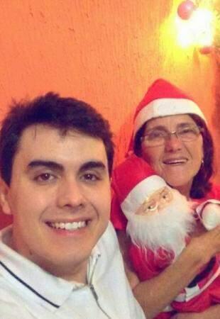 Marcus e Maria, juntos no Natal. (Foto: Arquivo Pessoal)