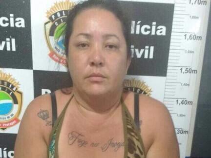 Cleia Ricarda Aveiro foi presa na noite desta quinta-feira (Foto: Divulgação Polícia Civil)