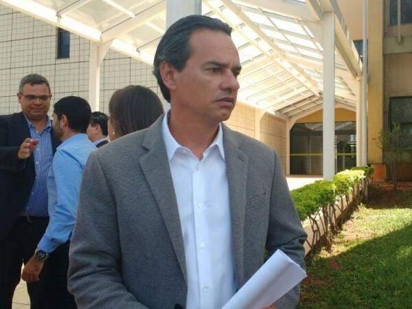 Prefeito de Campo Grande, Marquinhos Trad (PSD) foi ao MPE nesta terça-feira (3). (Richelieu de Carlo)